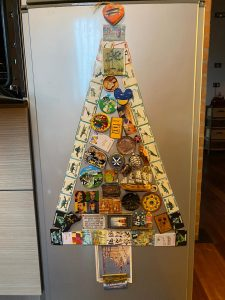 Fridge magnets christmas tree