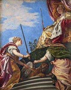 Paolo Veronese   Venezia in trono onorata dalla Giustizia e la Pace   Palazzo Ducale